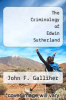 cover of The Criminology of Edwin Sutherland