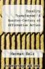 cover of Equality Transformed: A Quarter-Century of Affirmative Action