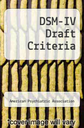 Cover of DSM-IV Draft Criteria 93 (ISBN 978-0890420591)
