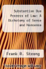cover of Substantive Due Process of Law: A Dichotomy of Sense and Nonsense