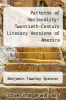 cover of Patterns of Nationality: Twentieth-Century Literary Versions of America