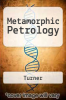 cover of Metamorphic Petrology (2nd edition)