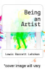 cover of Being an Artist