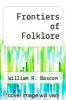 cover of Frontiers of Folklore