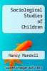 cover of Sociological Studies of Children