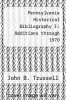 cover of Pennsylvania Historical Bibliography I: Additions through 1970