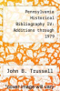 cover of Pennsylvania Historical Bibliography IV: Additions through 1979
