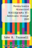 cover of Pennsylvania Historical Bibliography VI: Additions through 1985