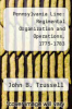 cover of Pennsylvania Line: Regimental Organization and Operations, 1775-1783