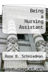 Cover of Being a Nursing Assistant 3 (ISBN 978-0893030599)