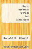 cover of Basic Research Methods for Librarians