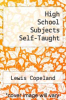 cover of High School Subjects Self-Taught