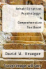 cover of Rehabilitation Psychology: A Comprehensive Textbook