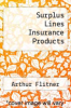 cover of Surplus Lines Insurance Products