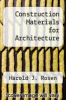cover of Construction Materials for Architecture