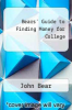 cover of Bears` Guide to Finding Money for College
