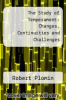 cover of The Study of Temperament: Changes, Continuities and Challenges