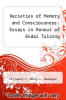 cover of Varieties of Memory and Consciousness: Essays in Honour of Endel Tulving