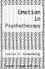 cover of Emotion in Psychotherapy