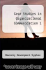 cover of Case Studies in Organizational Communication 1
