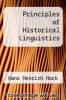 cover of Principles of Historical Linguistics