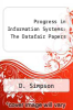 cover of Progress in Information Systems: The Datafair Papers