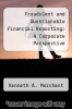 cover of Fraudulent and Questionable Financial Reporting: A Corporate Perspective