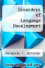 cover of Disorders of Language Development
