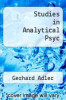 cover of Studies in Analytical Psyc