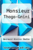 cover of Monsieur Thogo-Gnini