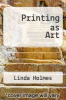 cover of Printing as Art