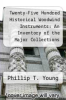 cover of Twenty-Five Hundred Historical Woodwind Instruments: An Inventory of the Major Collections