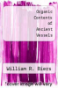 cover of Organic Contents of Ancient Vessels