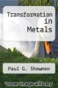 cover of Transformation in Metals