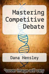 Cover of Mastering Competitive Debate 4 (ISBN 978-0931054327)