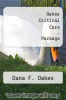 cover of Oakes Critical Care-Package