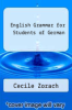 cover of English Grammar for Students of German