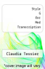 cover of Style G for Med Transcription