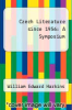 cover of Czech Literature since 1956: A Symposium