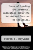 cover of Index of Leading Environmental Indicators 2006: The Nature and Sources of Ecological Progress in the U. S. and the World