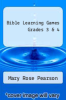 cover of Bible Learning Games Grades 3 & 4
