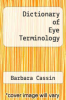 cover of Dictionary of Eye Terminology