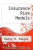 cover of Insurance Risk Models