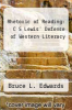 cover of Rhetoric of Reading: C S Lewis` Defense of Western Literacy