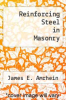 cover of Reinforcing Steel in Masonry