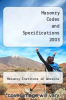 cover of Masonry Codes and Specifications 2003