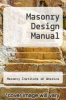 cover of Masonry Design Manual (4th edition)