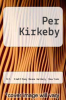 cover of Per Kirkeby