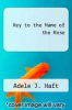 cover of Key to the Name of the Rose