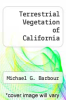 cover of Terrestrial Vegetation of California (2nd edition)
